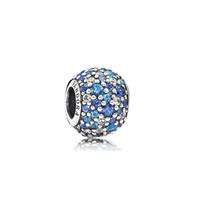 PANDORA潘多拉 925银时尚典雅串珠蓝色791261NSBMX