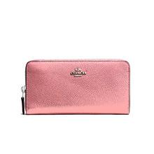 COACH 蔻驰 女士新款牛皮拉链钱包钱夹 粉红色58059