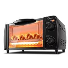 美的 PT1011 电烤箱家用烘焙迷你小型多功能全自动10L1-4人干果肉类烧烤蛋糕糕点披萨低温烘干广域控温上下管加热